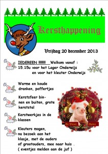 affiche kersthappening 2013